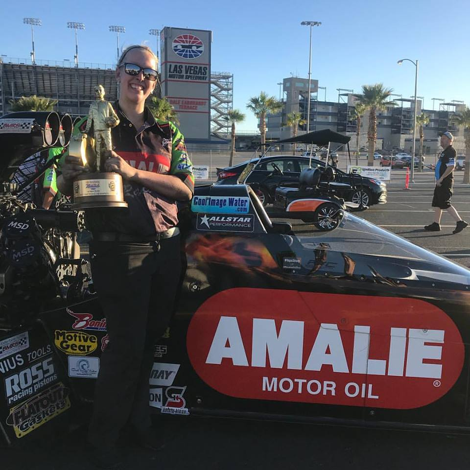 UNOH Grad Kaylynn Simmons works as a Clutch Specialist for Terry McMillen in NHRA