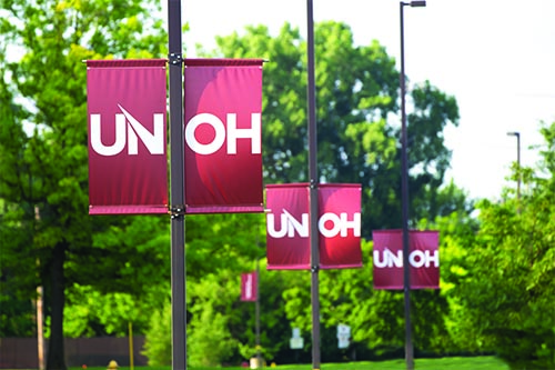 Pole Banners on UNOH Campus